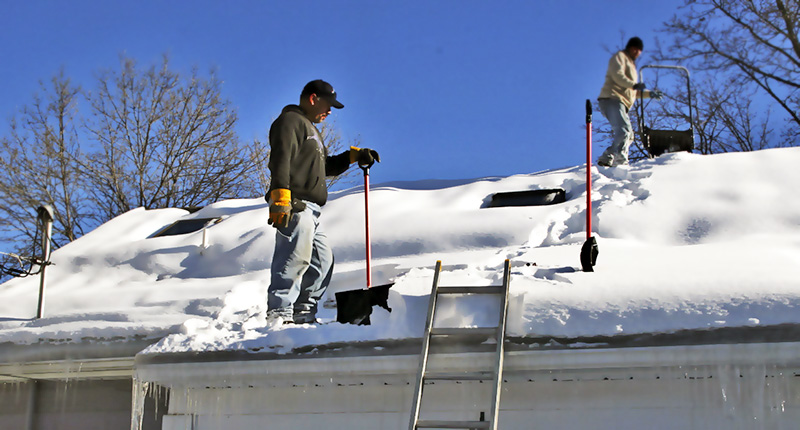 Уборка крыш от снега цены